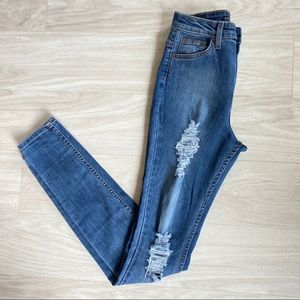 Fashion nova ultra high rise distressed jeans